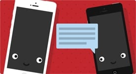 communicerende mobieltjes