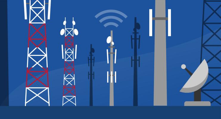 Alle soorten zendmasten in het mobiele netwerk