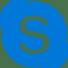 Blauw Skype logo