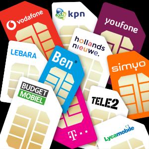 Simkaarten met providerlogo