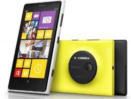 Nokia Lumia 1020 in wit, geel en zwart